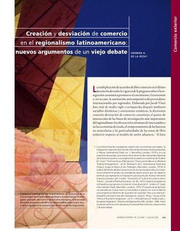 Creación y desviación de comercio en el regionalismo ...