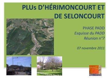 07 novembre 2011 - présentation - Hérimoncourt Commune