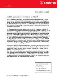 PRESS RELEASE - Schwan Stabilo