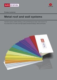 Metal roof and wall systems - Steel International Center