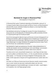 Merkblatt für Angler in Rheinland-Pfalz