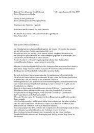 Brief an Rat und Verwaltung - Schwiegershausen