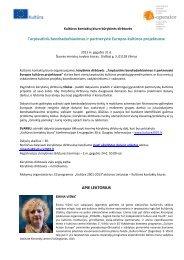 Kūrybinių dirbtuvių programa ir apie lektorius ... - Kultura 2007