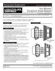 installation instructions vega heatsink fluorescent slider dimmers