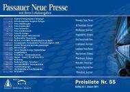Preisliste Nr. 55 - Passauer Neue Presse