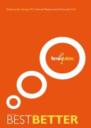 Annual Report and Accounts - BrainJuicer