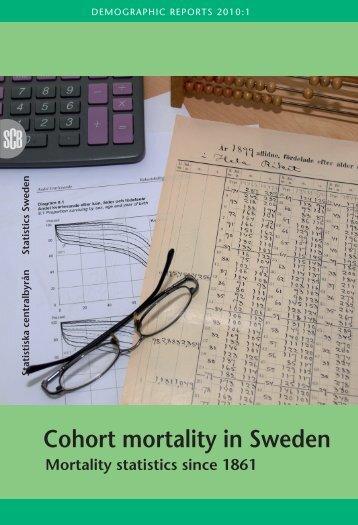 Cohort mortality in Sweden (pdf)