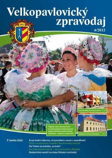 Velkopavlovický zpravodaj IV/2012 - barevná obálka - Velké Pavlovice