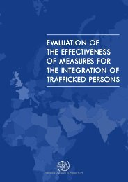 evaluation of the effectiveness of measures for the integration of ...