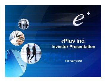 February, 2012 - ePlus
