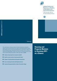 Housing and Property Markets in Germany 2011 - Bundesinstitut für ...