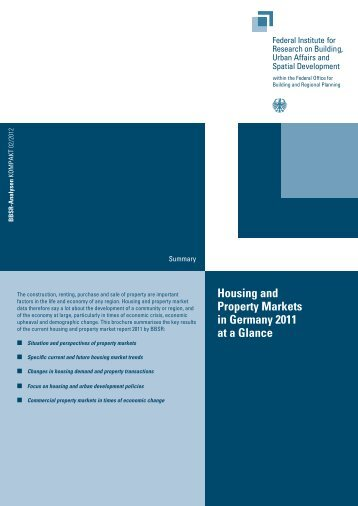Housing and Property Markets in Germany 2011 - Bundesinstitut für ...