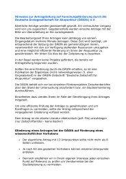 Hinweise zur Antragstellung auf ... - bei der DÄGfA