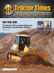 ON THE JOB - TEC Tractor Times
