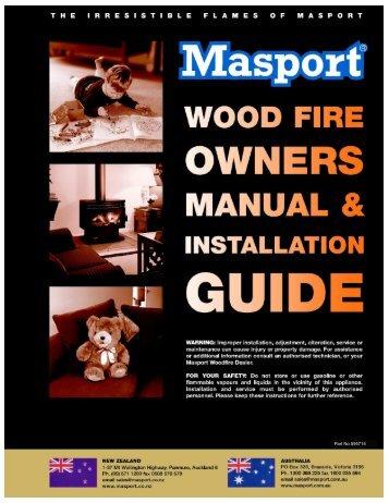 Masport Wood Heater Manual all Models - Pivot Stove & Heating