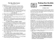 The Sin of the Census Walking Thru The Bible 1 & 2 CHRONICLES