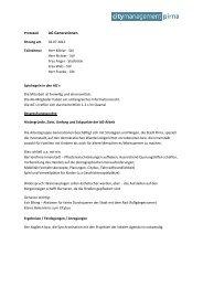 Protokoll 1. Sitzung - Citymanagement Pirna