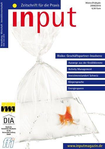 input - Zeitschrift für die Praxis Ausgabe 01/2009 - DIA