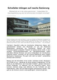 Informationen zur geplanten Schulsanierung - Magix