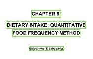 chapter 6: dietary intake - SA HealthInfo