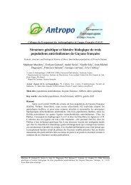 Structure génétique et histoire biologique de trois ... - Antropo