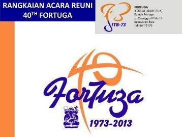 Agenda Kegiatan 40 Tahun Fortuga - Fortuga.com