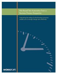 Risk-Based Test Automation from a Business ... - Worksoft, Inc.