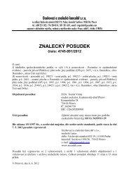 ZNALECKÝ POSUDEK číslo: 4745-891/2012 - OKdrazby.cz