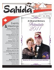 Volume 28, No.1, February 2011 - Al Shamal Shriners