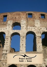 Project dossier Italië :: Rome - Livingstone