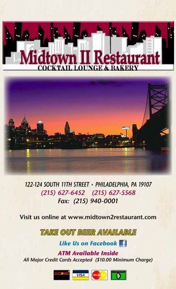 TAKE OUT BEER AVAILABLE - the Midtown 2 Diner