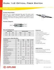 Dura 1x2 Optical Fiber Switch