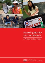 Assessing Quality and Cost Benefit - International Federation of Red ...