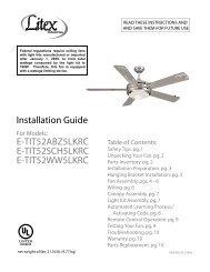Installation Guide E-TIT52ABZ5LKRC E-TIT52SCH5LKRC E ...