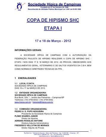 programação - Sociedade Hípica de Campinas