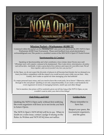 Primer 2011 TT Primer v2 - NOVA Open