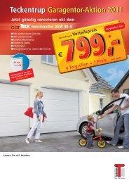 Teckentrup Garagentor-Aktion 2011 Teckentrup ... - Bautipps.de