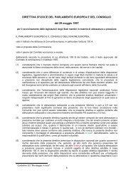 DIRETTIVA 97/23/CE DEL PARLAMENTO EUROPEA E ... - Anima