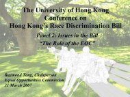 Raymond Tang, Chairman, EOC - Faculty of Law, The University of ...