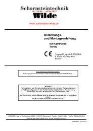 Bedienungs- und Montageanleitung für Kaminofen Tondo