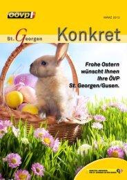 Frohe Ostern wünscht Ihnen Ihre ÖVP St. Georgen/Gusen.