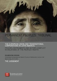 PERMANENT PEOPLES' TRIBUNAL - Enlazando Alternativas