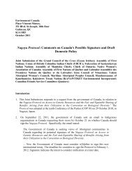 Nagoya Protocol - GCCEI Joint Submission on Canada's possible ...