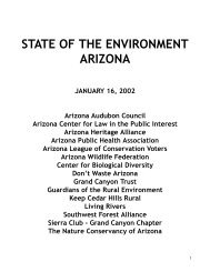 available online as a 168 KB pdf file - Arizona Sierra Club