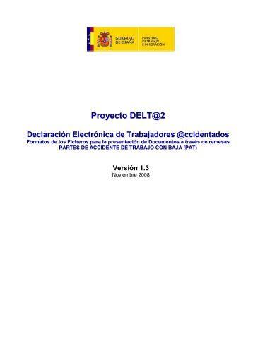 Proyecto DELT@2 Declaración Electrónica de ... - Fremap