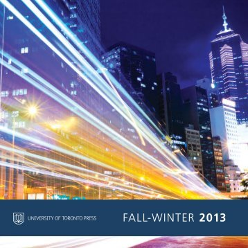 UTP's Fall/Winter 2013 Catalogue - University of Toronto Press