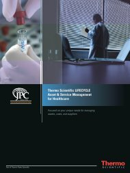 Thermo Scientific LIFECYCLE Asset & Service Management ... - JPC