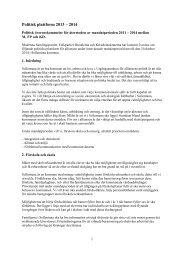 Ny politisk plattform 2013-2014 - Sollentuna kommun