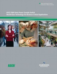 ASCO 7000 SERIES Power Transfer Switch World-Class ...