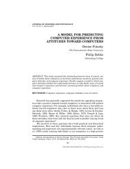 A MODEL FOR PREDICTING COMPUTER EXPERIENCE FROM ...